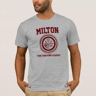 Mente de Milton que troca a camisa da academia