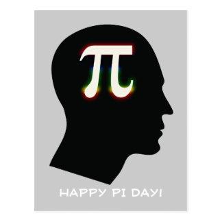 Mente do Pi - dia feliz do Pi! - Cartão dos cumpri Cartão Postal