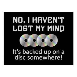 Mente em um cartão do disco