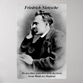 Mentes do excelente de Friedrich Nietzsche dos pos Posters