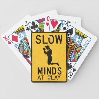 Mentes lentas no jogo - design engraçado da Anti-R Baralho Para Pôquer