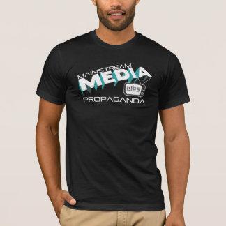 Mentiras da propaganda dos meios do grosso da camiseta