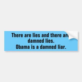 Mentiras de Obama Adesivo Para Carro