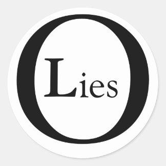 Mentiras de Obama Adesivo Redondo