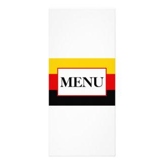 Menu alemão do casamento da bandeira 10.16 x 22.86cm panfleto