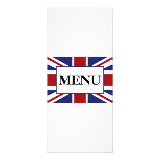 Menu britânico do casamento da bandeira de Union 10.16 X 22.86cm Panfleto