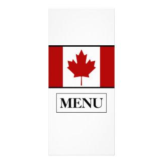 Menu canadense do casamento da bandeira 10.16 x 22.86cm panfleto