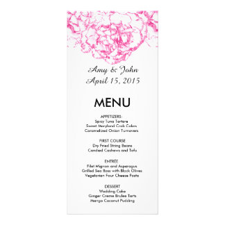 Menu cor-de-rosa carnation1 do casamento do cravo