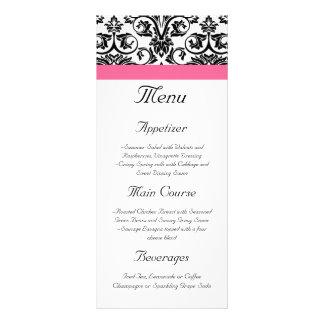 Menu cor-de-rosa do Victorian e branco fúcsia do d 10.16 X 22.86cm Panfleto