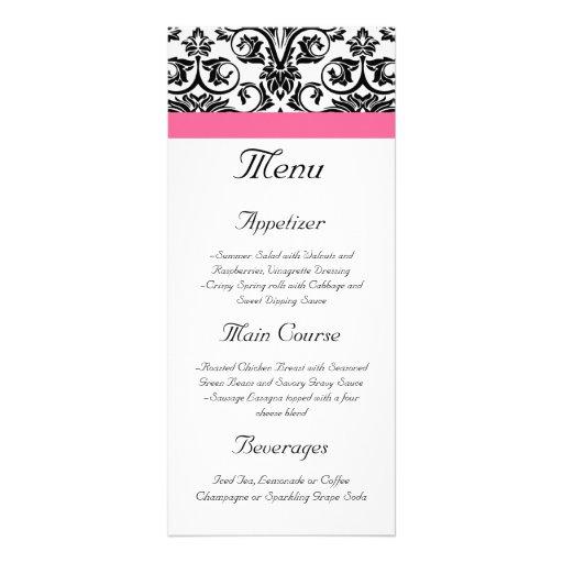 Menu cor-de-rosa do Victorian e branco fúcsia do d Planfeto Informativo Colorido