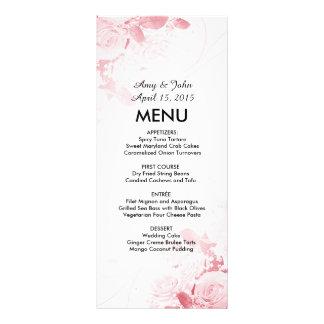 Menu cor-de-rosa elegante vr3 do casamento do