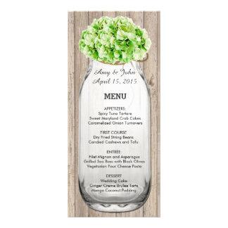 Menu de madeira hyd4 do casamento do celeiro 10.16 x 22.86cm panfleto