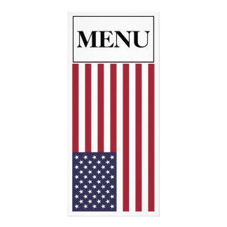 Menu do casamento da bandeira americana 10.16 x 22.86cm panfleto