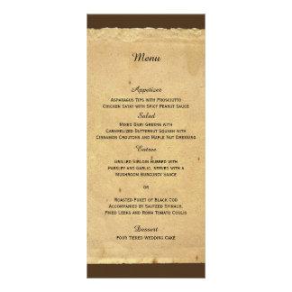 Menu do casamento da flor de lis do vintage 10.16 x 22.86cm panfleto
