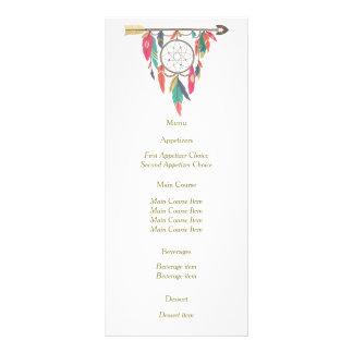 Menu do casamento da seta de Dreamcatcher 10.16 X 22.86cm Panfleto