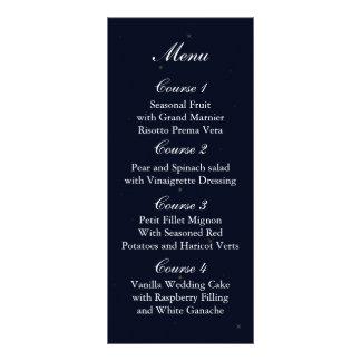 menu do casamento do frasco de pedreiro dos 10.16 x 22.86cm panfleto