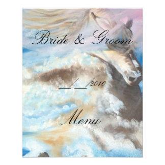 menu do casamento panfletos coloridos