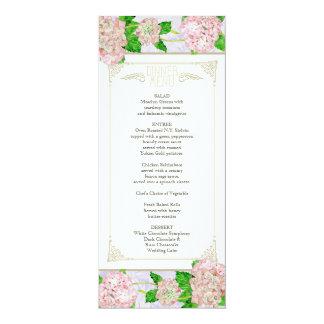 Menu do comensal - formal floral do laço convite 10.16 x 23.49cm