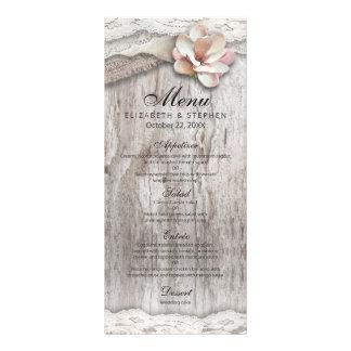 Menu floral rústico do casamento do celeiro do