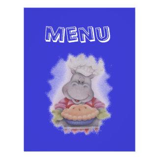 menu flyer 21.59 x 27.94cm