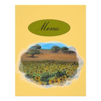 menu panfleto