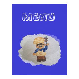 menu panfletos coloridos
