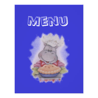 menu panfleto personalizado