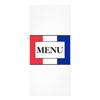 Menu francês do casamento da bandeira 10.16 x 22.86cm panfleto