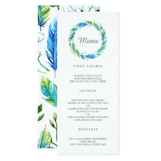 Menu moderno brilhante do casamento de Boho | Convite 10.16 X 23.49cm