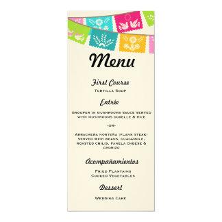 Menu para Wedding ou festa Convite 10.16 X 23.49cm