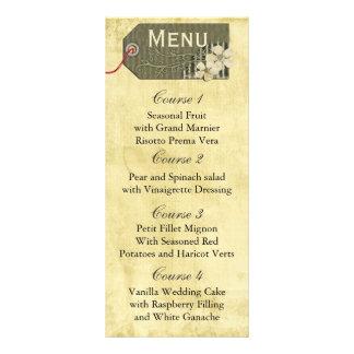 menu rústico do casamento do frasco de pedreiro do 10.16 x 22.86cm panfleto