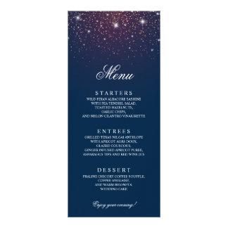Menu Sparkling do casamento dos azuis marinhos