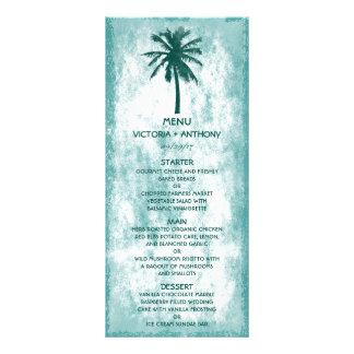 Menu tropical do casamento de praia da palmeira