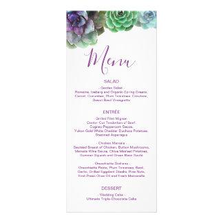Menu Wedding dos Succulents | da aguarela