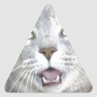 meow aberto divertido macio da boca do gato adesivo triangular