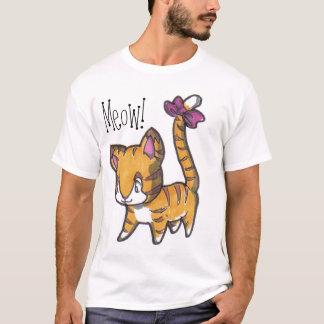Meow! Camisa do gatinho para miúdos!