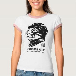 Meow do presidente camiseta