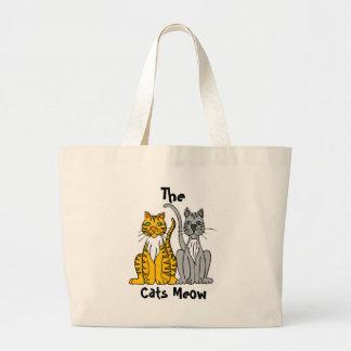 , Meow dos gatos Bolsas Para Compras