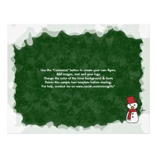 Mercado das promoções do Natal do modelo do Panfletos Coloridos
