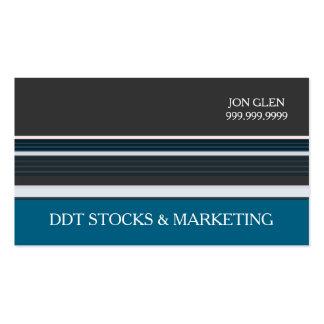 Mercado de valores de acções moderno profissional cartão de visita