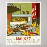 Mercado do poster de WPA