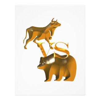 Mercado em alta contra o mercado de urso panfleto personalizados