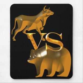 Mercado em alta contra o mercado de urso mouse pad