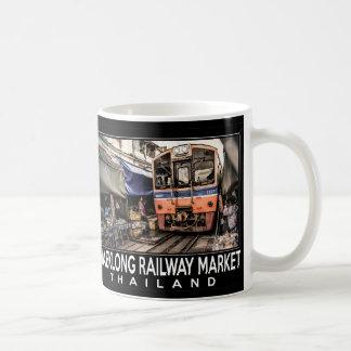 Mercado Railway de Maeklong (ROM de Talat Hup) Caneca