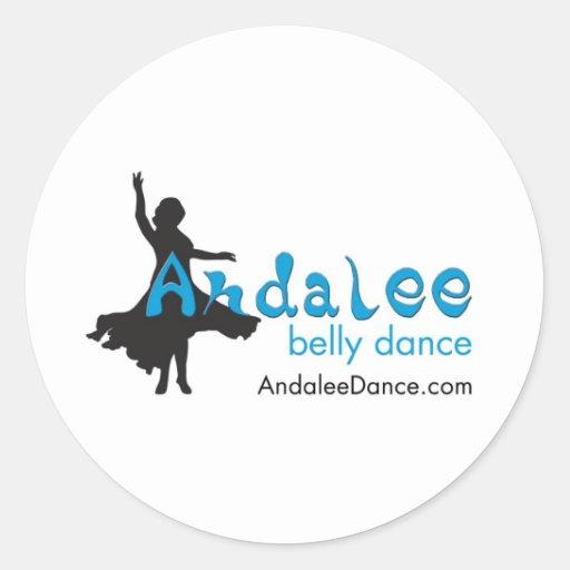 Mercadoria da dança do ventre de Andalee Adesivo Redondo