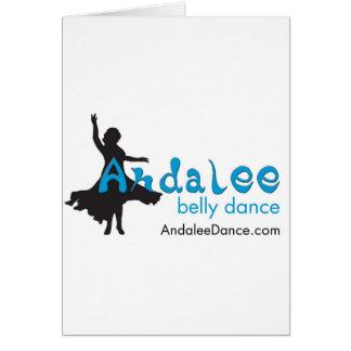Mercadoria da dança do ventre de Andalee Cartão Comemorativo