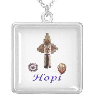 Mercadoria indiana do Hopi Colar Com Pendente Quadrado