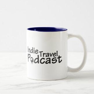 Merch Indie do Podcast do viagem Caneca De Café Em Dois Tons