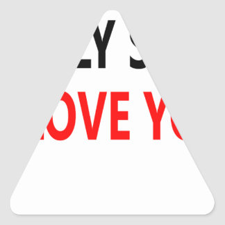 Merda santamente eu te amo (1) adesivo triangular