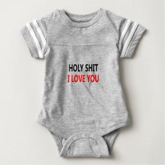 Merda santamente eu te amo (1) body para bebê